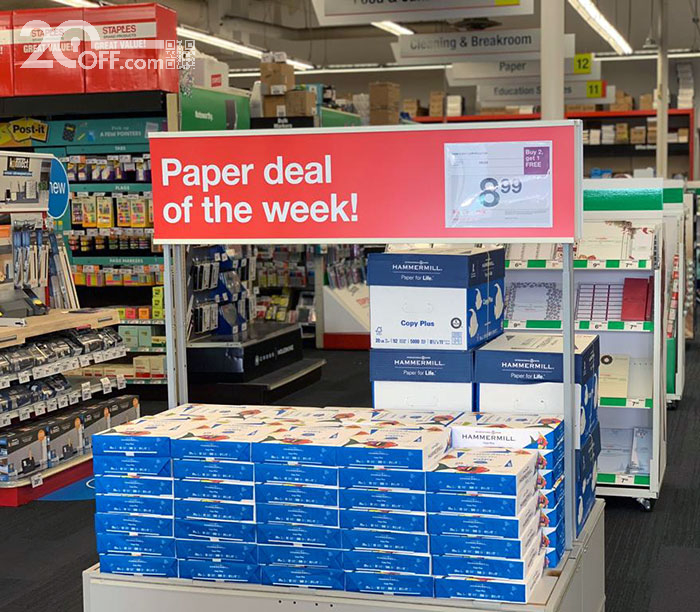 Staples paper deal of the week