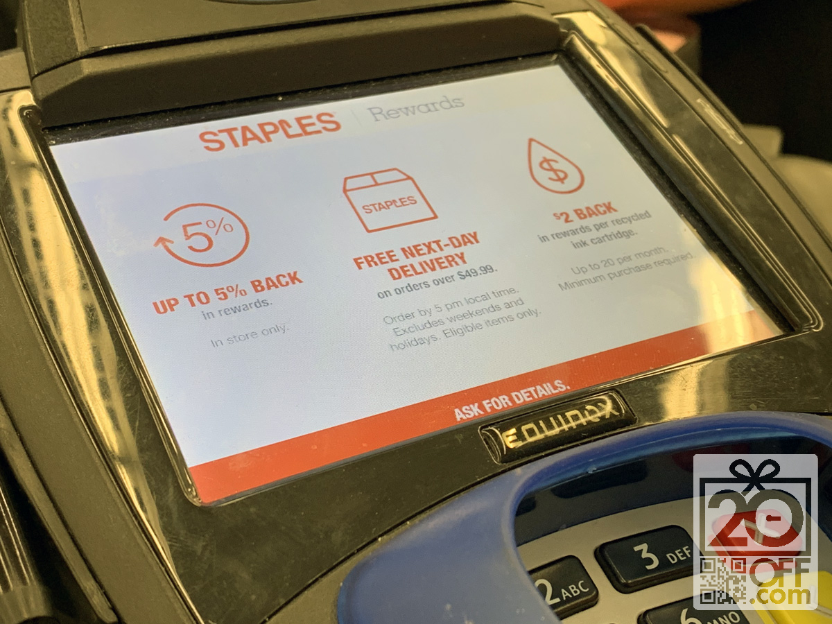 Staples Rewards Promotion