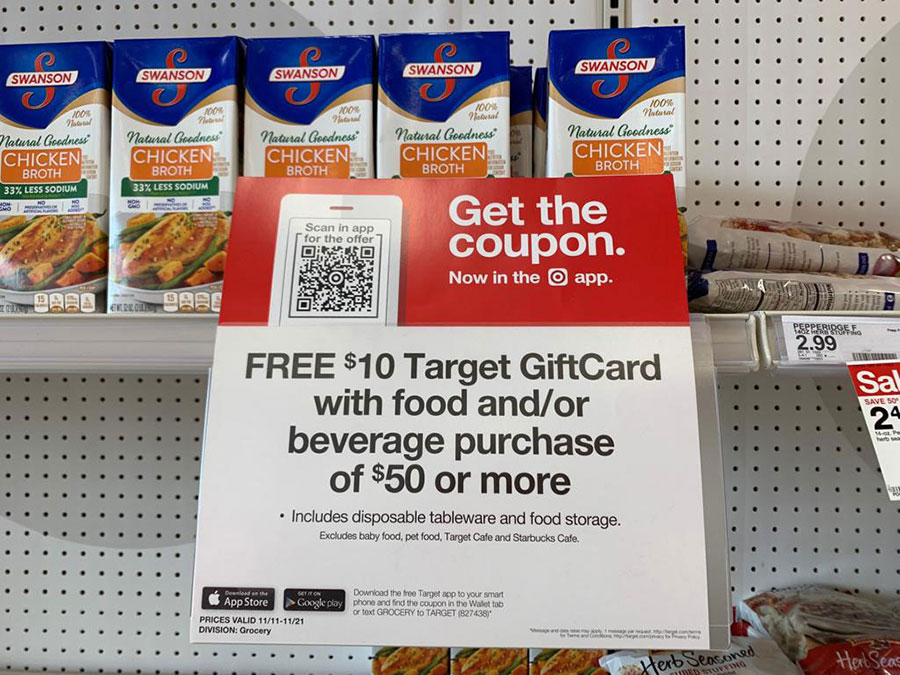 Target gift card and coupon