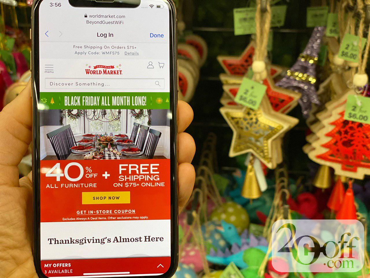 World market 40% OFF Black Friday Coupon