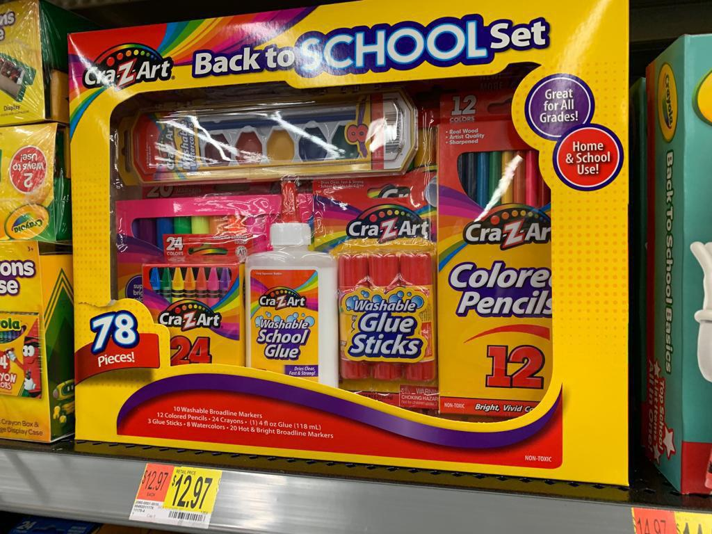 Crayola CraZArt Back to School Set