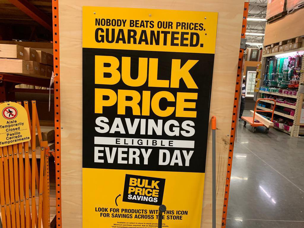 It is a graphic of Juicy Home Depot Coupon December 2020