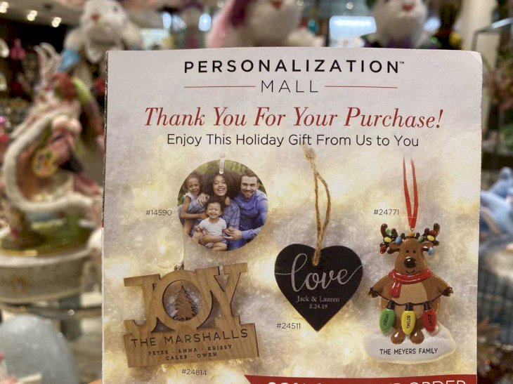 Personalized Christmas Ornaments Promo