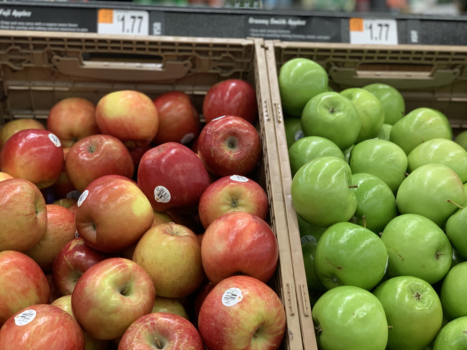Walmart green and red apples